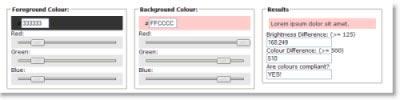 Colour Contrast Checker