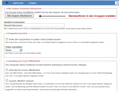 Drupal: Organic Groups mit Foreneinbindung