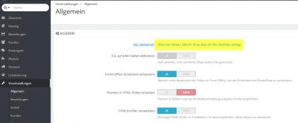 Prestashop: Alle Seiten auf ssl umstellen