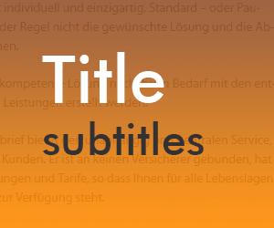 """<span class=""""entry-title-primary"""">Das Plugin Subtitles</span> <span class=""""entry-subtitle"""">Eine beschreibende zweite Überschrift hinzufügen</span>"""